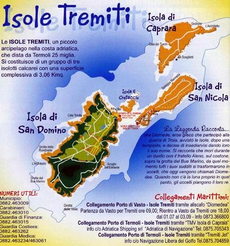 Cartina Puglia Isole Tremiti.Foto Delle Isole Tremiti