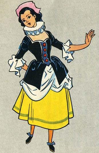 I colori del vestito di colombina